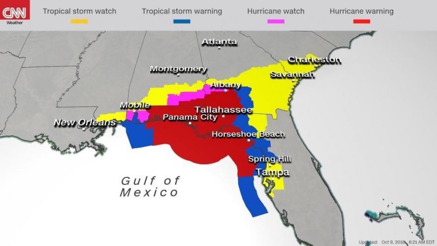"""monstrous"" hurricane michael eyeing florida's gulf coast"