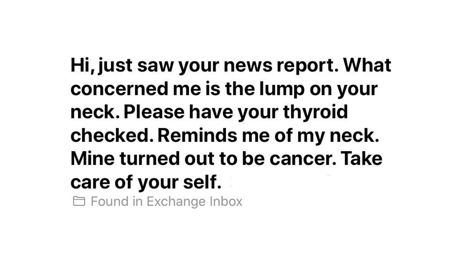 Tv Reporter Discovers She Has Cancer After A Viewer Noticed A