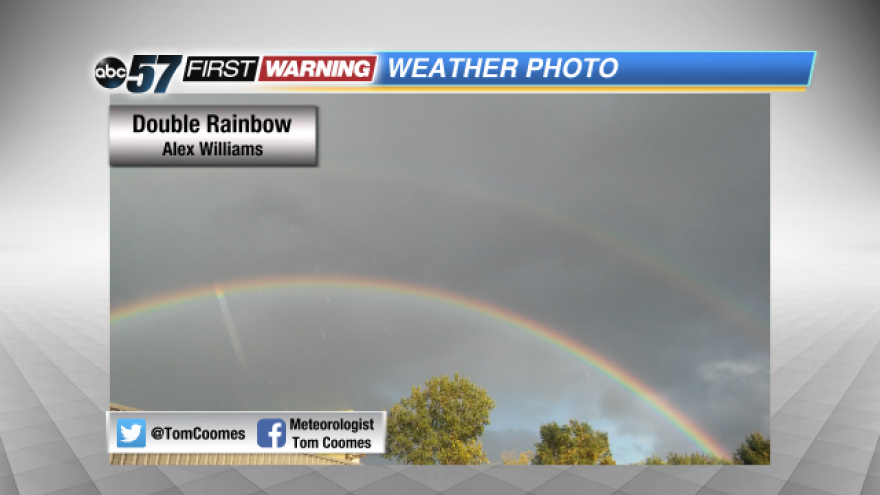 Lake Effect Rainbows Weather forecast in mobile app. abc 57