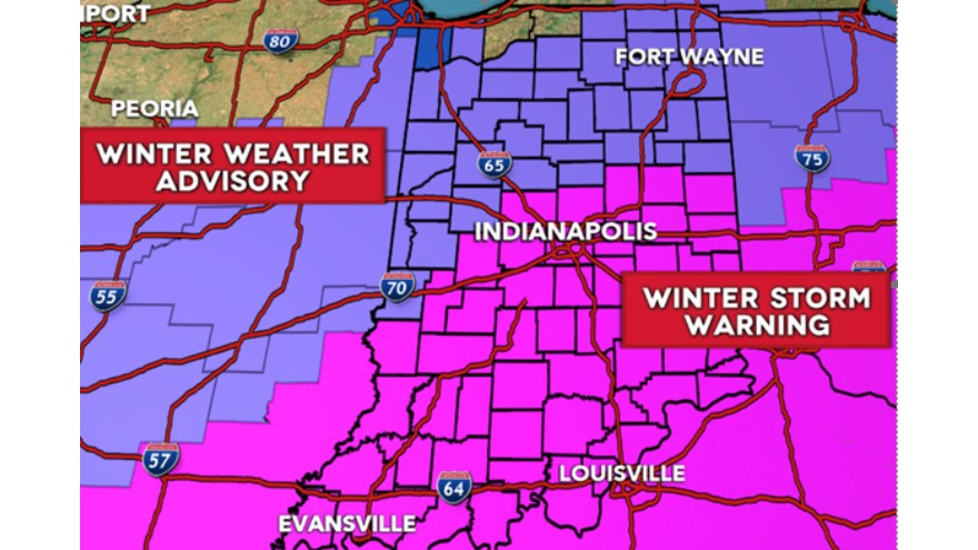 INDOT is preparing for significant snow accumulation