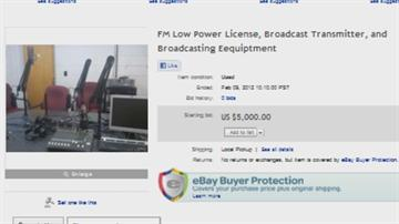 Emergency Manager Selling Public Radio Station Equipment On Ebay