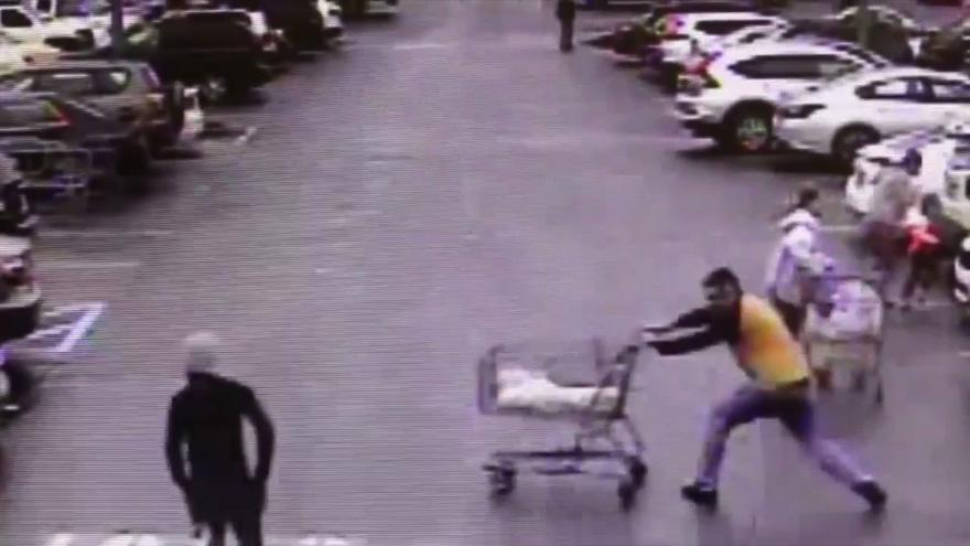 A Home Depot Shoplifter Was Stopped By A Shopping Cart In Georgia