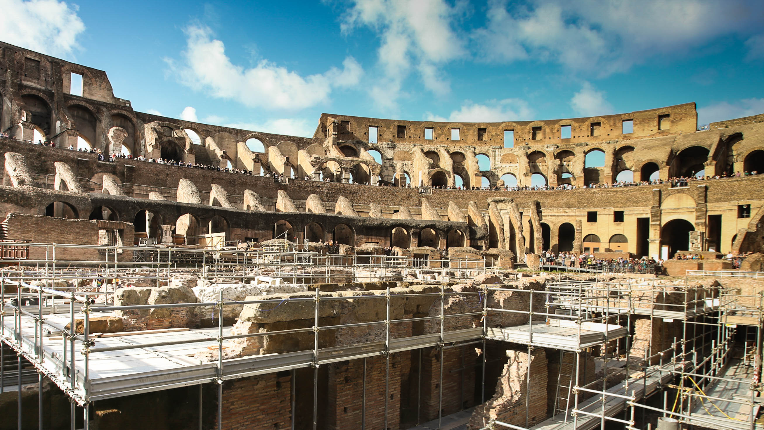 Rome's Colosseum opens its underground for the first time in its ...