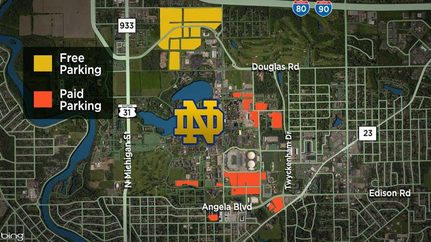 Parking Changes For Saturday S Basketball Hockey Games At Notre Dame